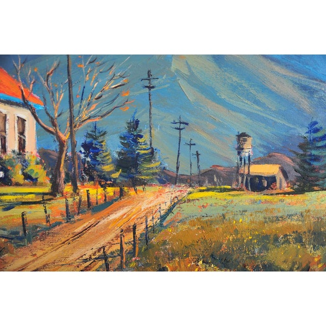 Red Roof Farm House -Oil Painting by Ben Abril - Image 9 of 11