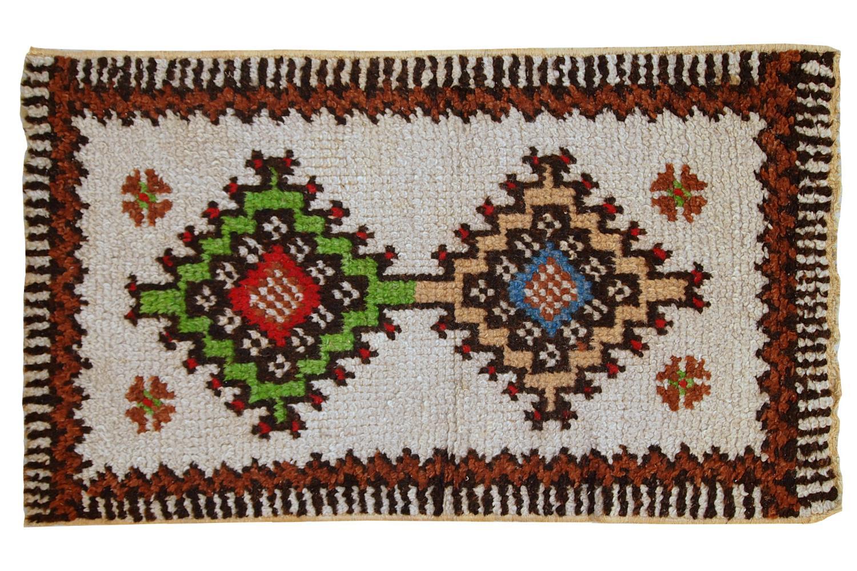 1960s handmade vintage moroccan berber rug 1.7' x 2.8' | chairish Berber Rug