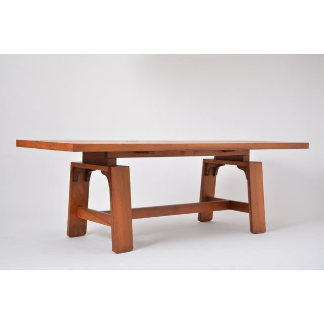 Veneer Large Dining Table in Walnut Veneer by Silvio Coppola, Bernini, Italy, 1964 For Sale - Image 7 of 12