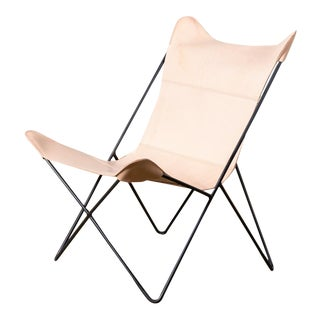 Mariposa Leather Butterfly Chair For Sale