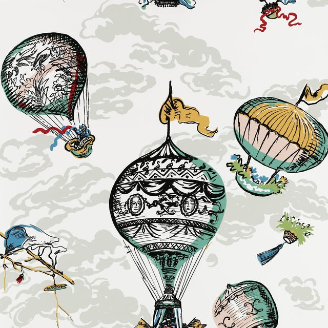 Schumacher Balloons Wallpaper in Multi For Sale