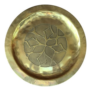 Boho Chic Brass Decorative Plate For Sale