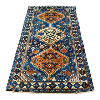 "1940s Vintage Turkish Tribal Rug-3'7'x7"" For Sale"