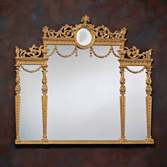 Decorative crafts italian gold leaf mirror chairish for Decorative crafts mirrors