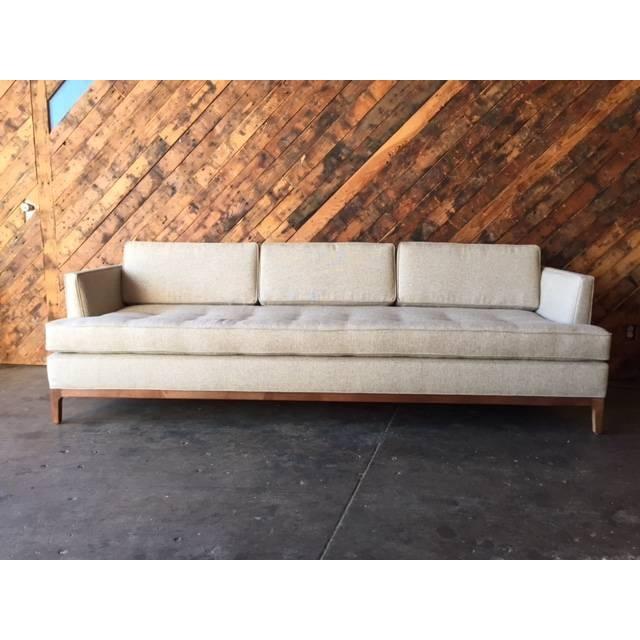 Mid Century Style Sofa: Mid-Century Style Oatmeal Custom Sofa