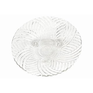 """Vintage Footed Fan Flute Swirl Glass 10"""" Bowl Preview"""