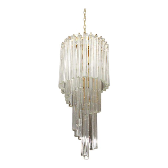 Murano Glass Foyer Chandelier For Sale