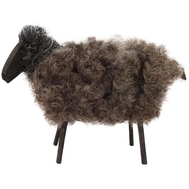 Fuzzy Wool Sheep Figure - Image 1 of 6