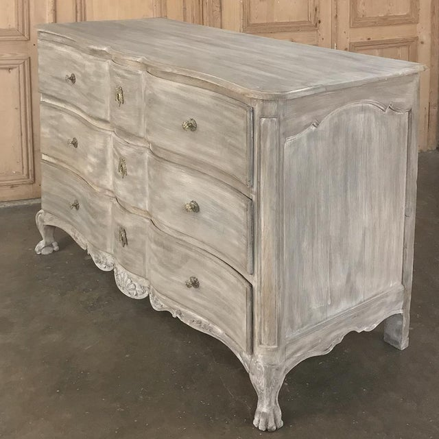 18th Century Country French Whitewashed Oak Commode For Sale - Image 4 of 13