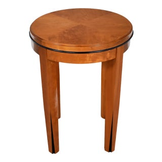 Small Round Art Deco Style Side Table or End Table by Hickory Business Furniture For Sale