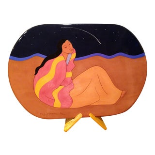 "R.C.Gorman ""Falling Star"" Ceramic Art Plate For Sale"