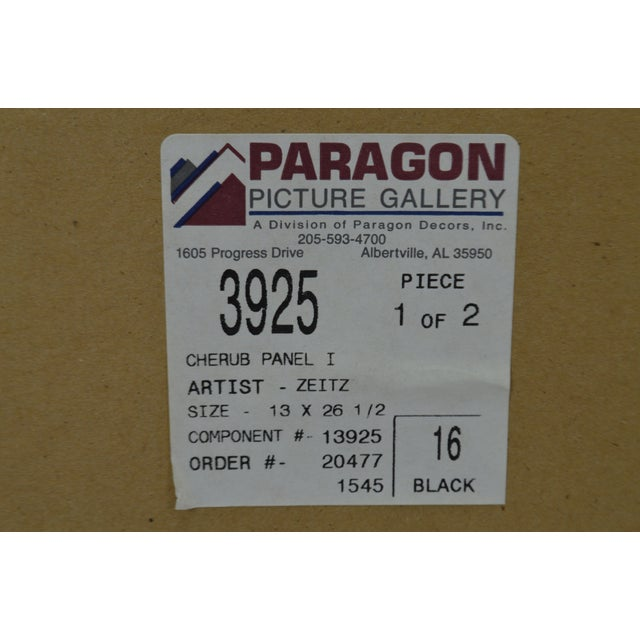 Vintage Framed Paragon Picture Gallery Cherub Print For Sale - Image 10 of 12