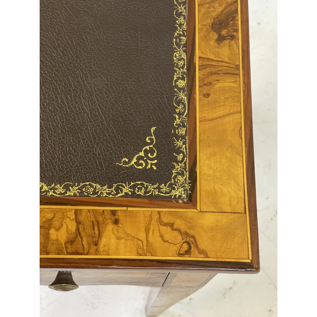 Pair of Italian Burl Wood Writing Tables For Sale - Image 10 of 13