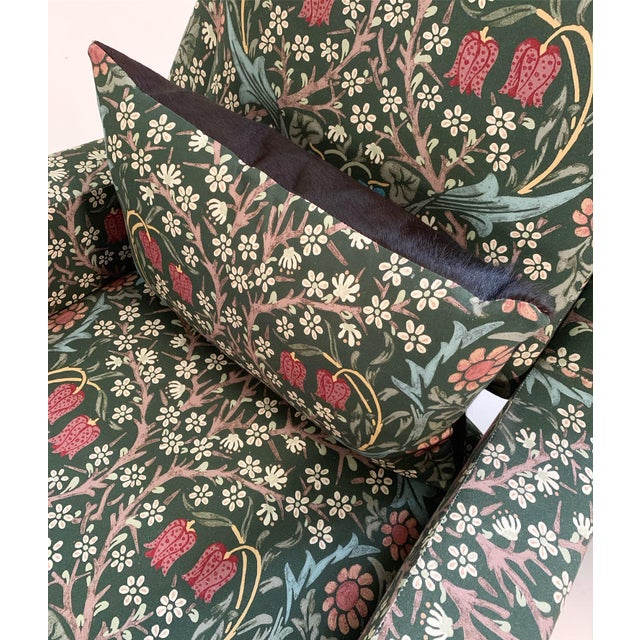 C. 1955 French Lounge Chairs in William Morris Blackthorn, Pair For Sale - Image 11 of 12