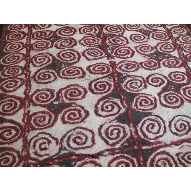 Primitive Central Asian Felt Carpet For Sale - Image 3 of 9