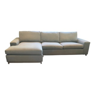 "Room and Board 106"" Left-Arm Chaise Sectional Sofa For Sale"