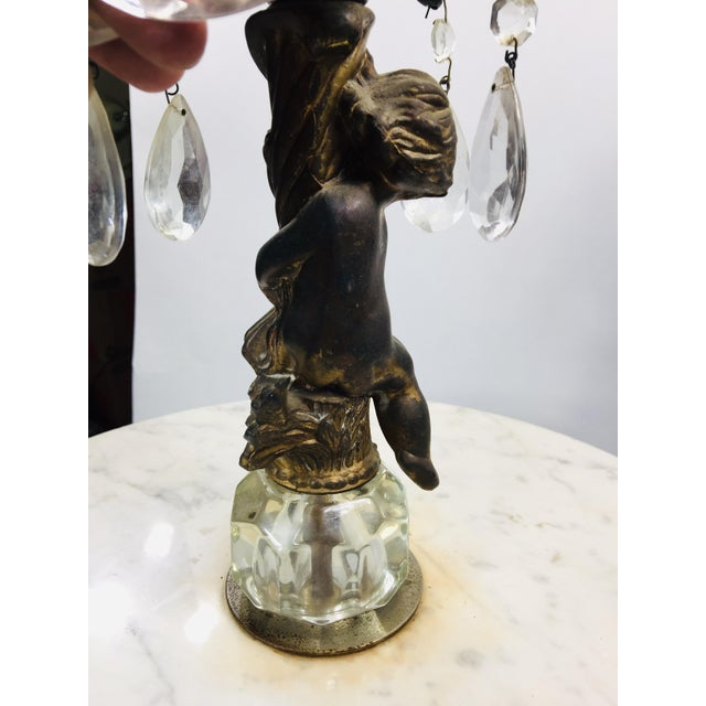 Vintage Marble and Agate Figural Putti Floor Lamp For Sale - Image 12 of 13
