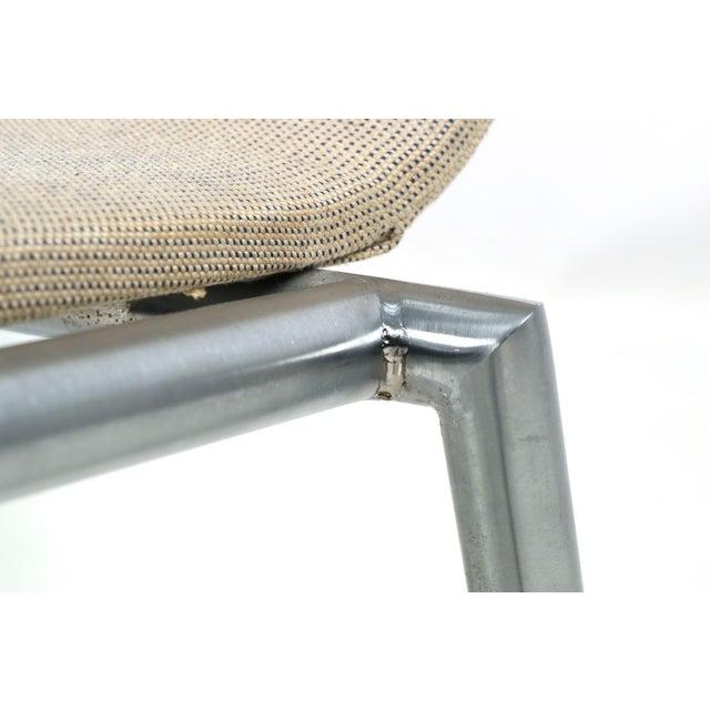 Danish Modern Brushed Steel Side Chair by Kvist - Image 8 of 11