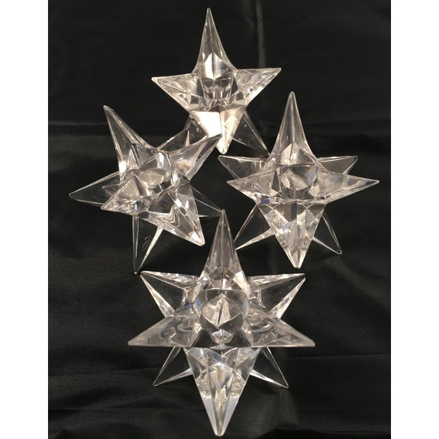 Rosenthal Crystal Star Candle Holders - 4 - Image 5 of 5
