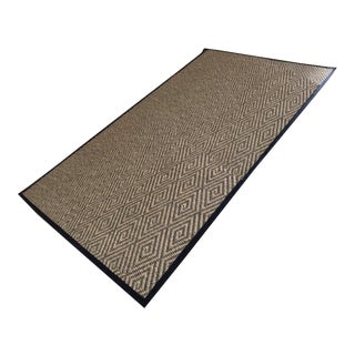 Custom Bound Diamond Pattern Pueblo Rug - 7′ × 12′ For Sale