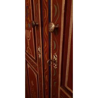 Moroccan Handpainted Wooden Armoire Preview
