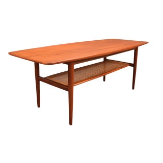 "1960s Danish Modern ""Surf"" Teak Coffee Table"