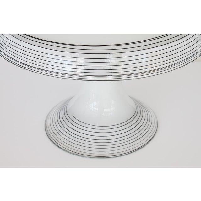 Italian Black and White Murano Swirl Glass Table Lamp - Image 3 of 10