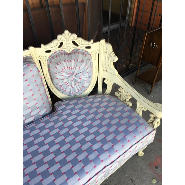 Textile Vintage Shabby Chic Style Sofa For Sale - Image 7 of 13