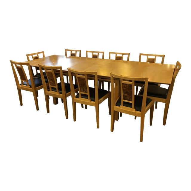 Robert Stangler Argus Dining Table & McCormick Chairs - Set of 11 - Image 1 of 11