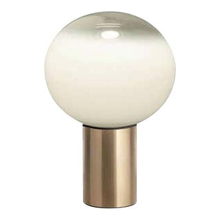 Mattheo Thun 'Laguna 16' Glass and Gold Metal Table Lamp for Artemide For Sale