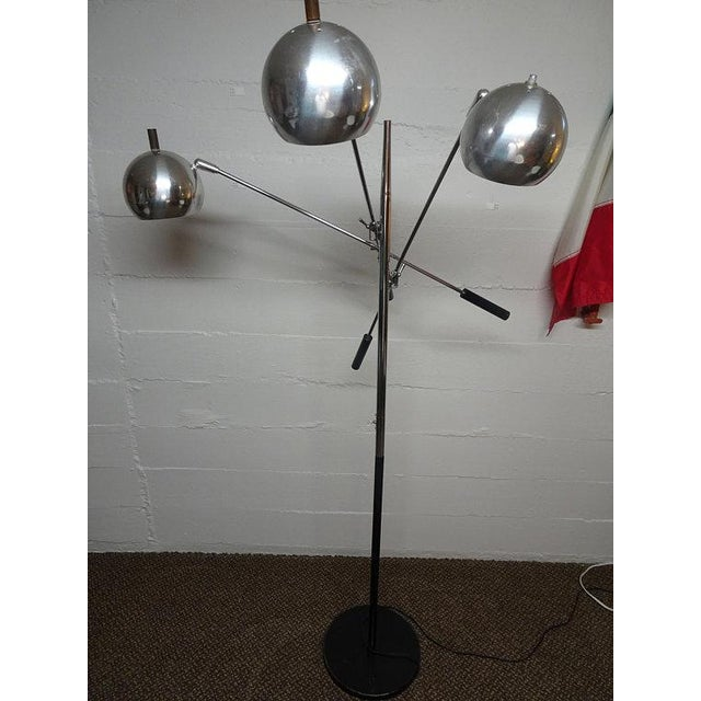1960s Mid-Century Modern Robert Sonneman Chrome Triennale Atomic Orbiter Floor Lamp For Sale - Image 9 of 9