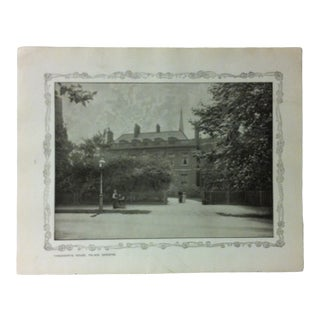 """1906 """"Thackerays House - Palace Gardens"""" Famous View of London Print For Sale"""