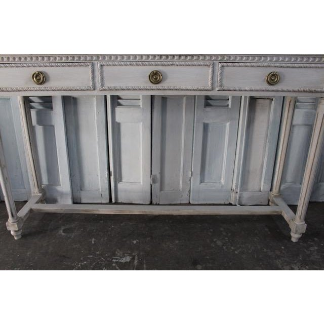 20th Century Vintage French Louis XVI Style Console For Sale - Image 4 of 12