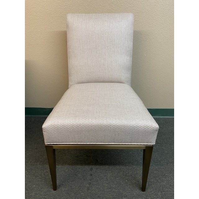 Design Plus Gallery presents a NEW Design Master Richfield Veranda Side Chair in Antique Bronze and Custom Upholstery....