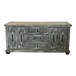 Real Wood Buffet Table For Sale