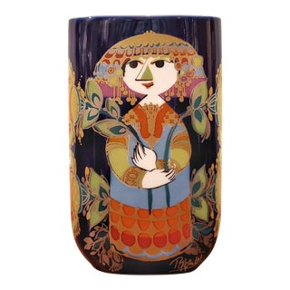 """Bjørn Wiinblad '1001 Nacht' Vase for Rosenthal (7"""") For Sale"""
