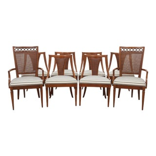 Art Deco Style Black and White Dining Chairs
