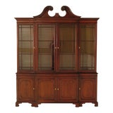 Image of Kindel Oxford Mahogany Breakfront China Cabinet For Sale