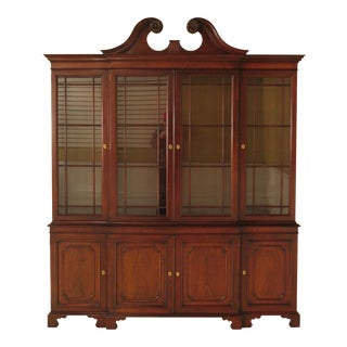 Kindel Oxford Mahogany Breakfront China Cabinet