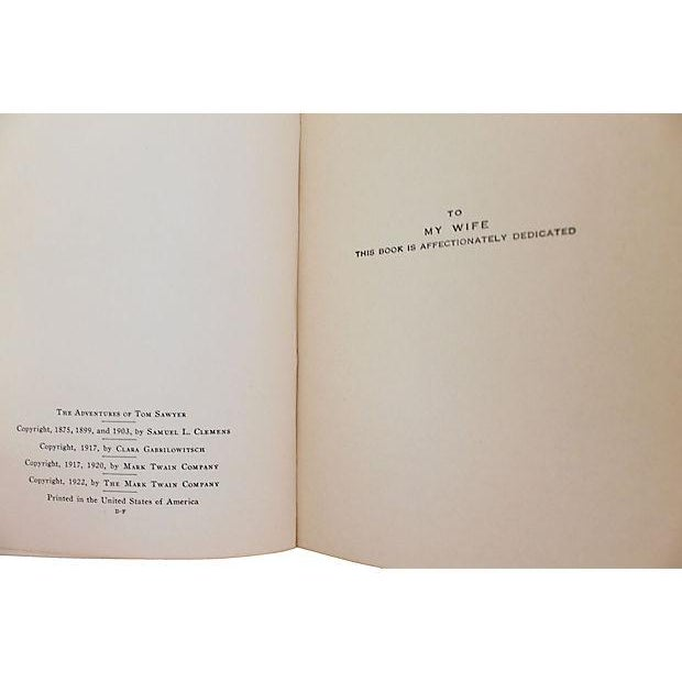 American Leather Bound Works of Mark Twain - Set of 20 For Sale - Image 3 of 6