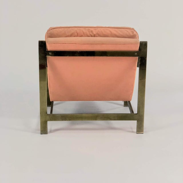 1970s 1970s Mid-Century Modern Cy Mann Peach Lounge Chair For Sale - Image 5 of 6