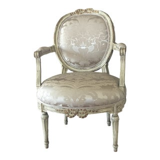 Traditional Scalamandre Fabric Chair For Sale