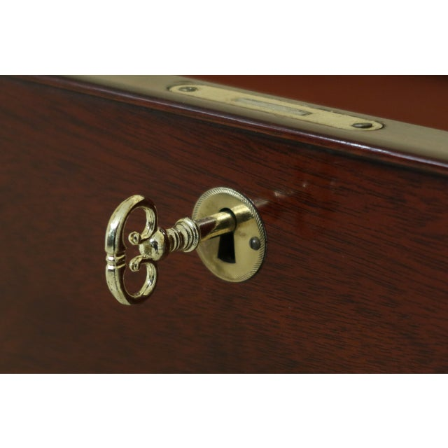 Kindel Oxford Mahogany Federal Sideboard W. Brass Gallery For Sale In Philadelphia - Image 6 of 13