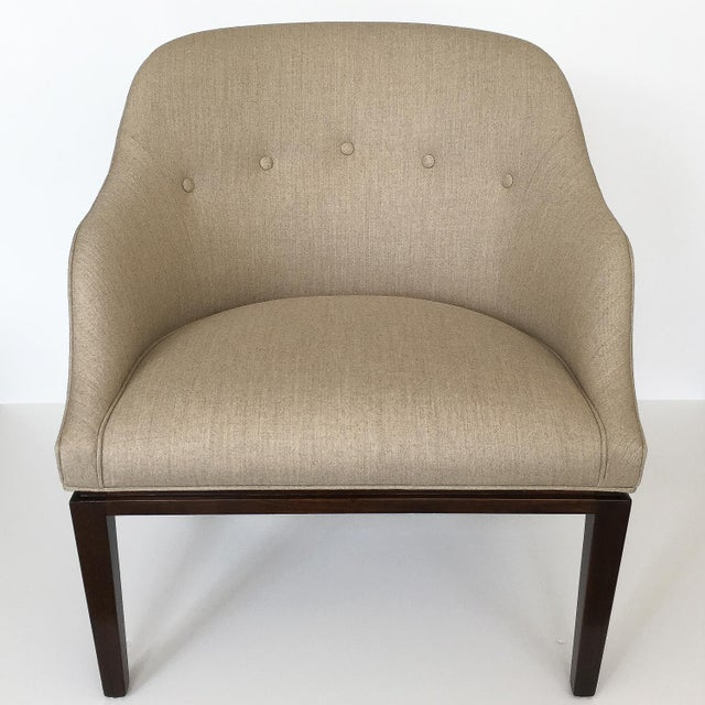 "Designer: Edward Wormley for Dunbar USA - Circa 1960s Dimensions: 32"" H x 29"" W x 28"" D Seat Height 17.5"" H Condition:..."