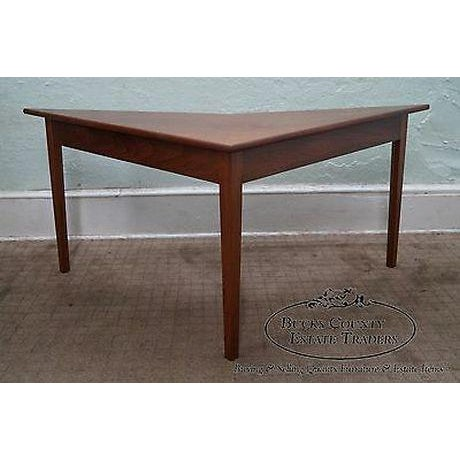 Mid-Century Modern Mid Century Modern Studio Made Triangle Boomerang Low Table For Sale - Image 3 of 13