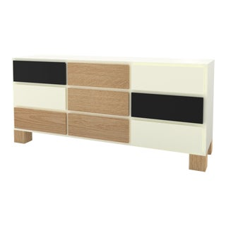 Contemporary 102 Storage in Oak and White and Black by Orphan Work, 2020 For Sale
