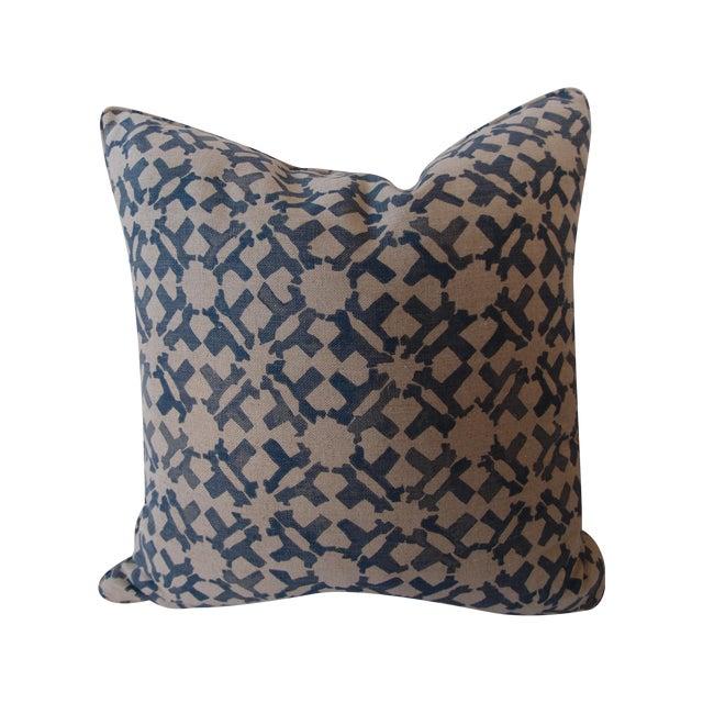 Peter Dunham Indigo Pillow For Sale