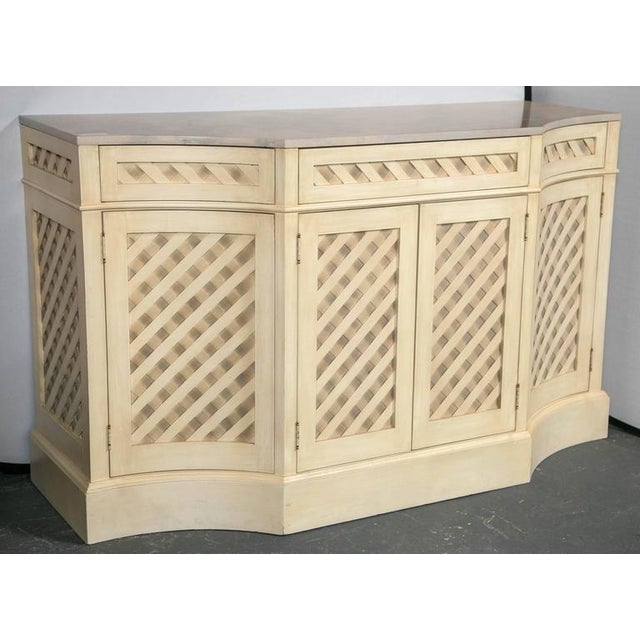 Marble-Top Checkerboard Sideboard For Sale - Image 4 of 9