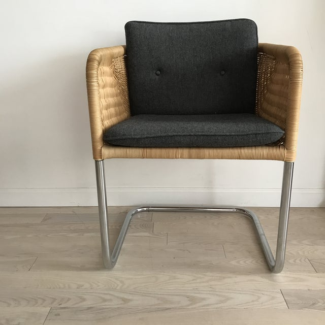 8abc05607134a Beautiful and iconic Wicker Cantilever chair by Harvey Probber. The kill  collection which was designed