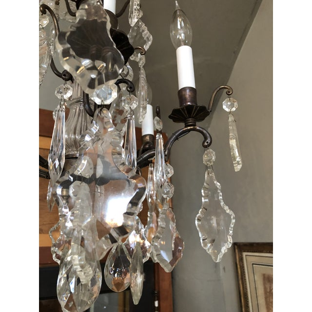 Super sweet and petite vintage Marie Therese style chandelier. Perfect for accent area, hallway, boudoir or bath! Newer...